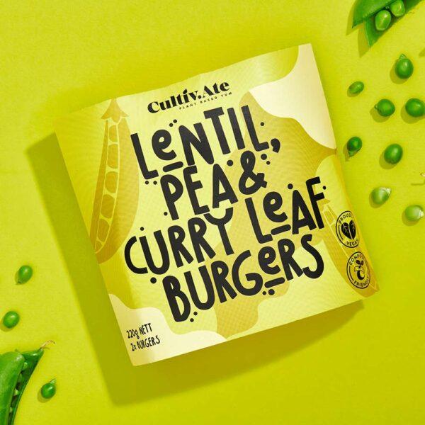 Buy Lentil, Pea & Curry Leaf Burger Patties Online & Melbourne